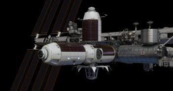 ModułyAxiom Space przed odłączeniem od Międzynarodowej Stacji Kosmicznej (ISS), co ma nastąpić w 2028 r. (źródło: https://www.axiomspace.com/)