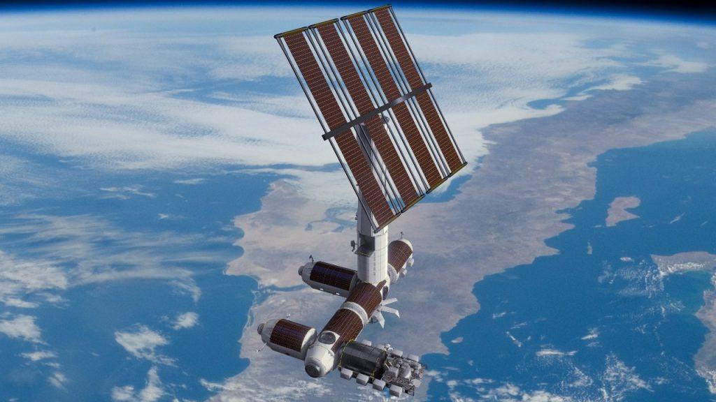 Axiom Space Station po odłączeniu od ISS, jako samodzielna stacja orbitalna (źródło: https://www.axiomspace.com/)