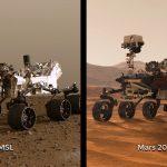 Dwa największe łaziki marsjańskie: MSL Curiosity oraz Mars 2020 Perseverance / Credits - NASA