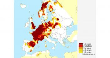 Ranking najwyższych zanotowanych temperatur w czerwcu i lipcu 2019 roku (względem zapisów od 1950 roku) / Credits: C3S/KNMI