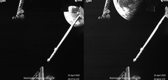 Ujęcia Ziemi wykonane przez BepiColombo podczas przelotu obok Ziemi / Credits - ESA, JAXA