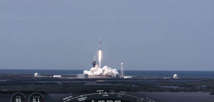 Start siódmej paczki satelitów Starlink - 22 kwietnia 2020 / Credits - SpaceX