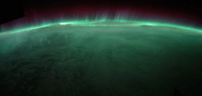 Zorza polarna z perspektywy ISS / Credits - NASA, Seán Doran