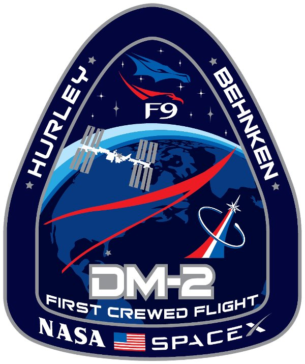 Logo misji SpX-DM2 / Credits - NASA, SpaceX