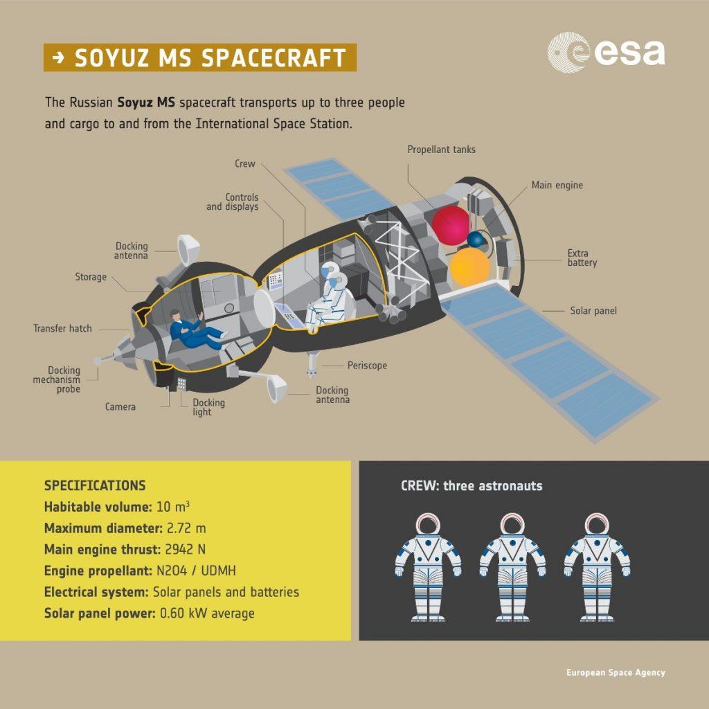 Opsi kapsuły Sojuz / Credits - ESA