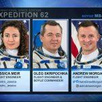 Załoga powracająca na pokładzie Sojuza MS-15 w dniu 17.04.2020 / Credits - NASA TV