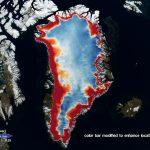Porównanie zmian pokrywy lodowej Grenlandii z danych z satelitów ICESAT i ICESAT-2 / Credits - NASA