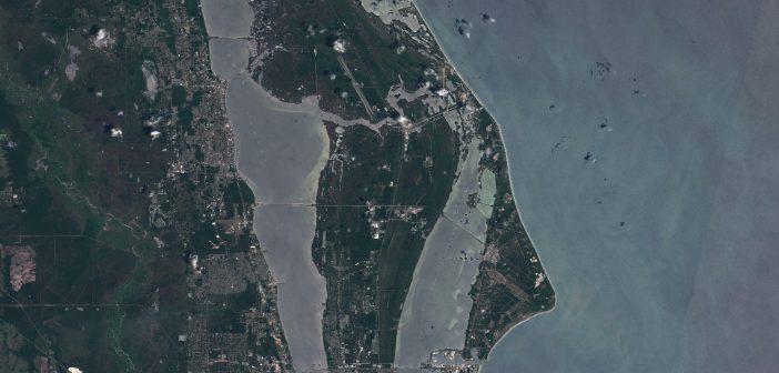 Region KSC i CCSFS - zdjęcie z satelity Sentinel 2 z 8 maja 2020 / Credits - Komisja Europejska, Copernicus