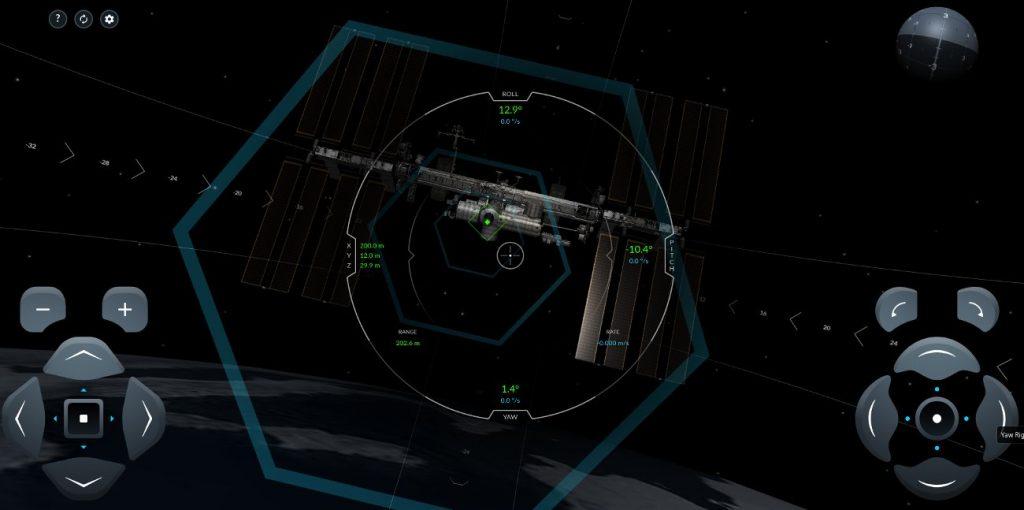 Symulator cumowania kapsuły Dragon 2 do ISS / Credits - SpaceX