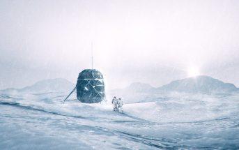 Rendering of the LUNARK base in the Arctic / Credits - LUNARK