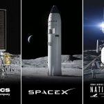 Trzy koncepcje lądowników, które zwyciężyły w konkursie NASA / Credits - NASA