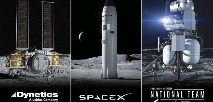 NASA rozstrzygnęła konkurs na pierwszy etap budowy załogowego lądownika księżycowego