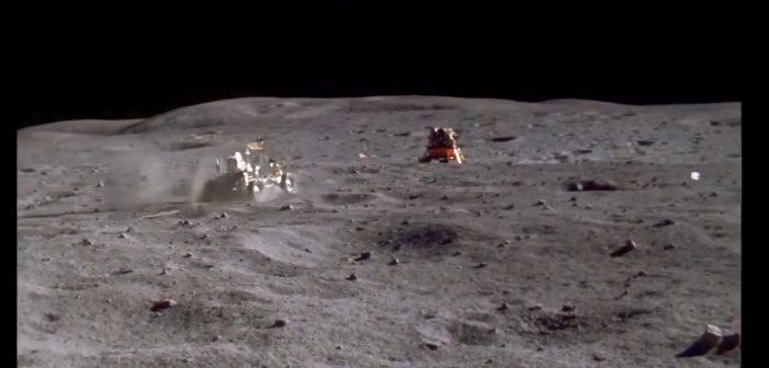 Jazda po Srebrnym Globie - misja Apollo 16 / Credits - NASA, przeskalowanie - Denis Shiryaev