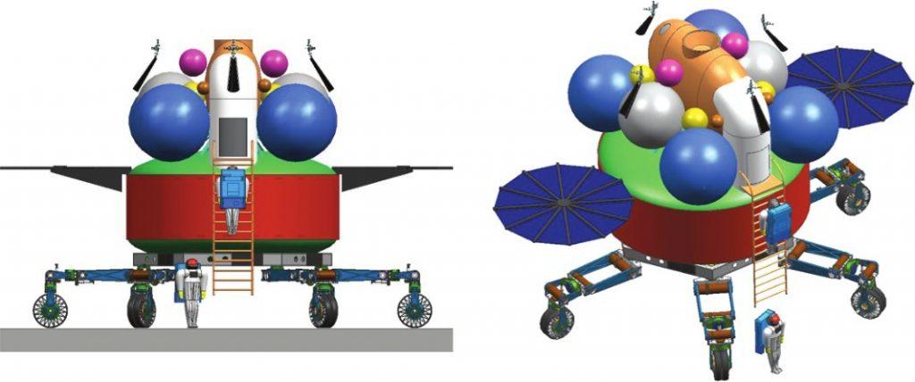 """Koncepcja mobilnego lądownika księżycowego z """"habitankiem"""" z 2006 roku / Credits - JPL, NASA"""