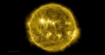 Tranzyt Wenus okiem SDO / Credits - NASA