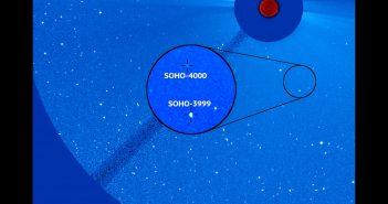 Komety SOHO 3999 i 4000 / Credits - ESA/NASA/SOHO/Karl Battams