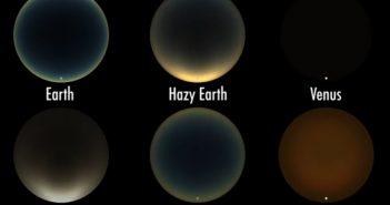 Zachody Słońca na różnych planetach (oraz Tytanie) / Credits - Geronimo Villanueva/James Tralie/NASA's Goddard Space Flight Center