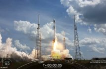 Start Falcona 9 z satelitą GPS F-03 / Credits - SpaceX