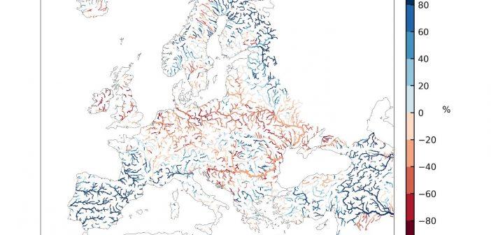 Stan wód w europejskich rzekach - maj 2020 / Credits - Copernicus Climate Change Service/ECMWF