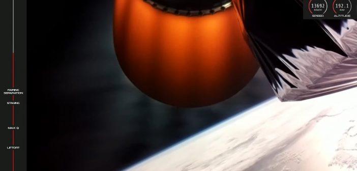 Ujęcie tuż po urwaniu kontaktu z rakiety Electron / Credits - Rocket Lab