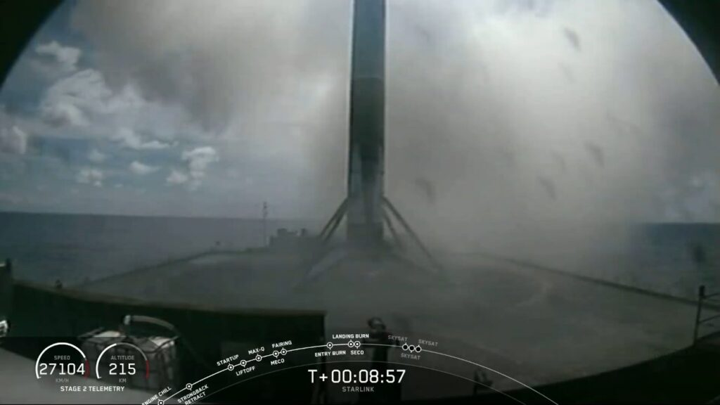 Udane lądowanie pierwszego członu rakiety Falcon 9 - 18.08.2020 / Credits - SpaceX