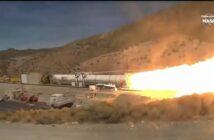 Test rakiety SRB dla SLS / Credits - NASA TV