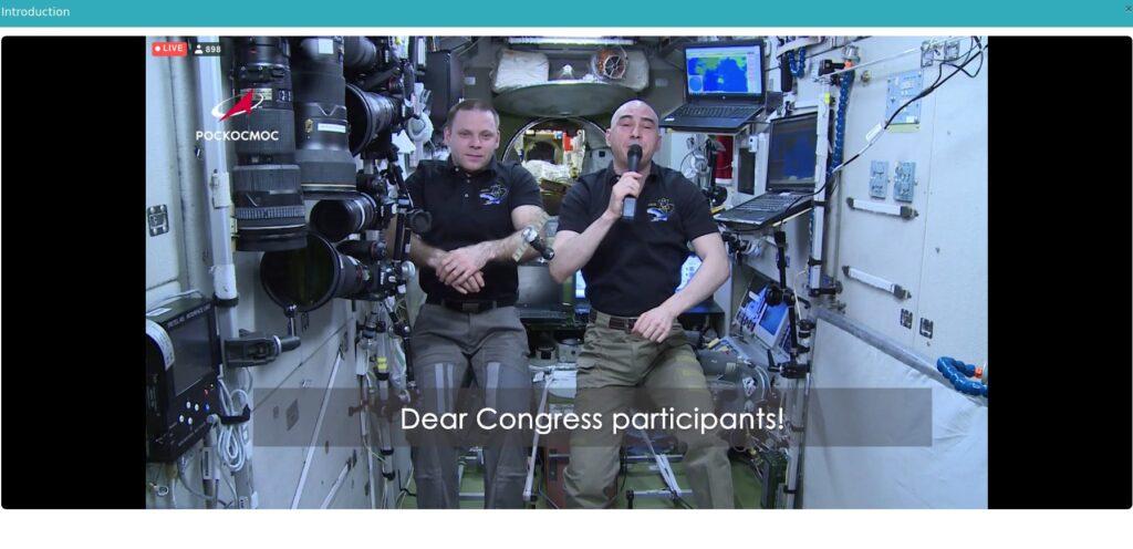 Powitanie z pokładu ISS  / Credits - IAF