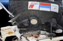 Sojuz MS-17 przycumowany do ISS / Credits - NASA TV