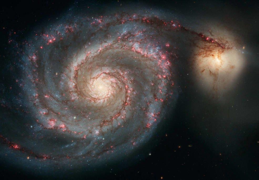 Zdjęcie M51 z teleskopu Hubble / Credits - NASA, ESA, S. Beckwith (STScI), Hubble Heritage Team (STScI/AURA)