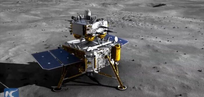 Chang'e 5 na powierzchni Księżyca / Credits - Xinhua
