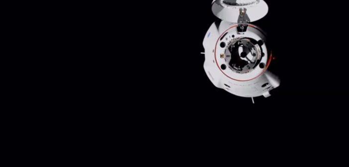 Misja Crew-1 - Dragon 2 zbliża się do ISS / Credits - SpaceX