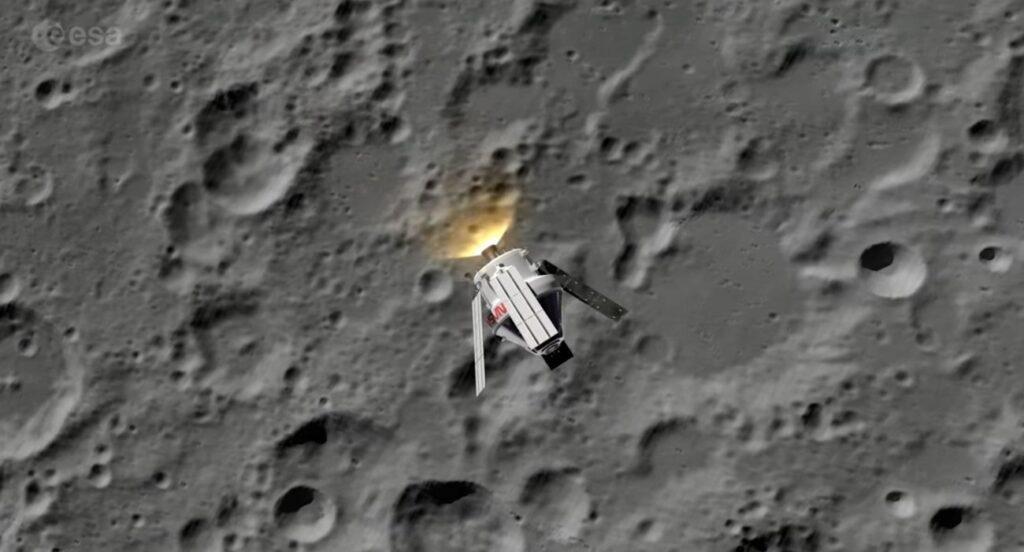 MPCV Orion w pobliżu Księżyca / Credits - ESA