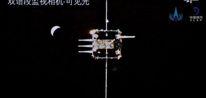 Chang'e 5 - zbliżenie do cumowania na orbicie / Credits - CCTV