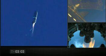 Ujęcie z lotu SN8 / Credits - SpaceX