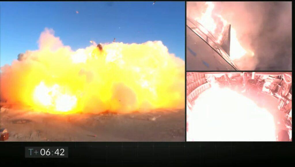 Koniec testu SN8 - eksplozja w miejscu lądowania / Credits - SpaceX