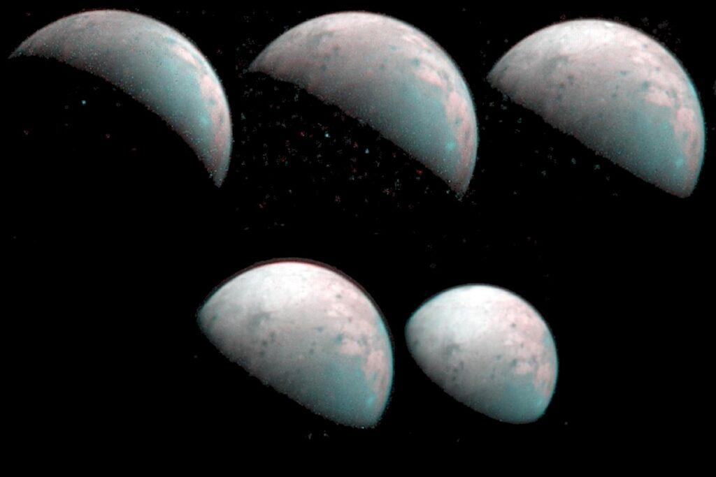 Obrazy Ganimedesa z JIRAM - 26 grudnia 2019 / Credits - NASA/JPL-Caltech/SwRI/ASI/INAF/JIRAM