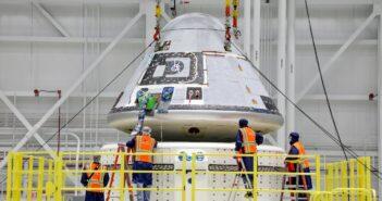 Prace nad kapsułą CST-100 Starliner - zdjęcie z 14 stycznia 2021 / Credits - Boeing/John Proferes