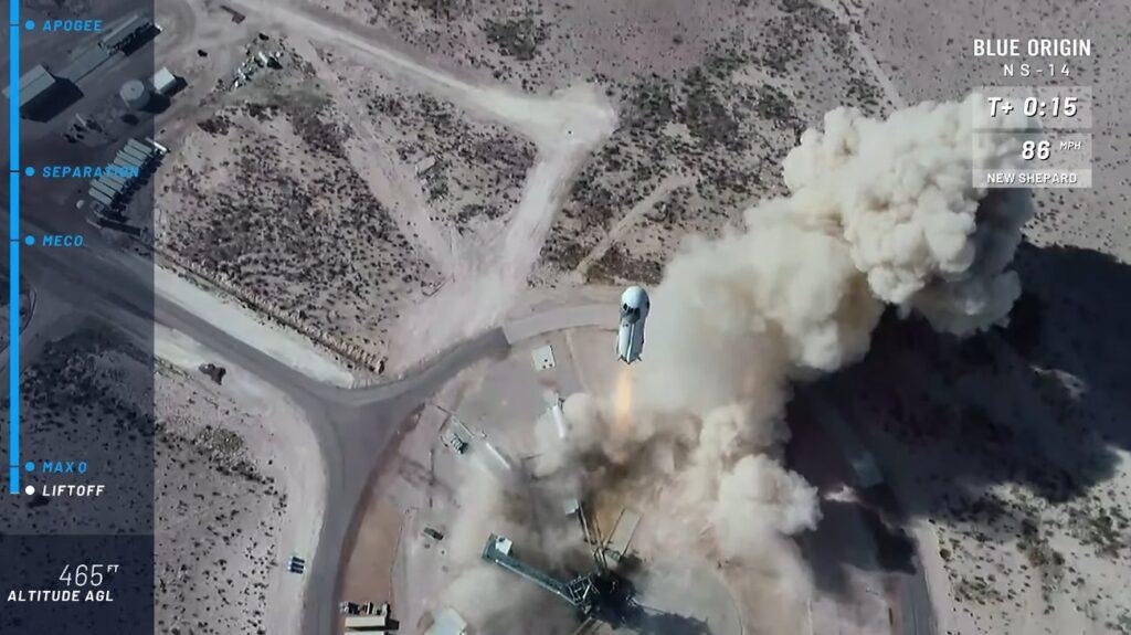 Start misji NS-14 (lot suborbitalny) / Credits - Blue Origin