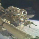 Ujęcie wykonane podczas spaceru EVA-69 / Credits - NASA TV