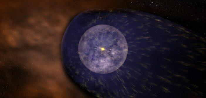Wizja artystyczna heliosfery wokółsłonecznej / Źródło: NASA/Goddard Space Flight Center Conceptual Image Lab
