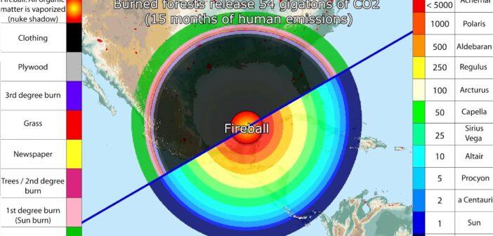 Uderzenie dużego obiektu w region krateru Chicxulub - symulacja / Credits - Gwillerm Kaldisti