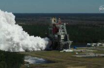 Ujęcie stanowiska startowego podczas drugiego testu Green Run - 18.03.2021 / Credits - NASA TV