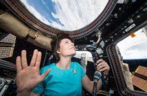 Samantha Cristoforetti na pokładzie ISS w trakcie swojej pierwszej misji kosmicznej / Credits - ESA