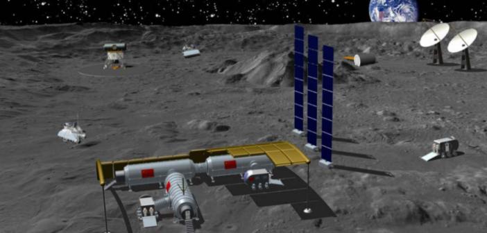 Artystyczna wizja chińskiej bazy na księżycu / Credits - CNSA