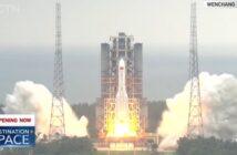 Start CZ-5B z Tianhe-1 - 29.04.2021 / Credits - CGTN
