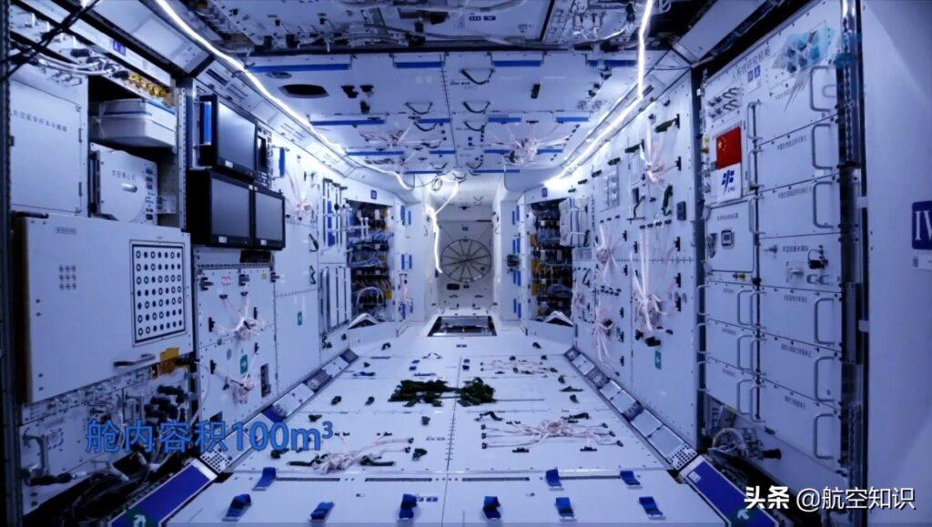 Wnętrze modułu Tianhe-1 / Credits - CNSA