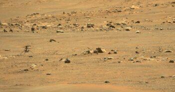 Ingenuity na nowym lądowisku po locie z 7 maja 2021 / Credits - NASA, JPL