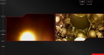 Ujęcie tuż po separacji stopni i zapłonie drugiego stopnia - lot Electrona z 15 maja 2021 / Credits - RocketLab