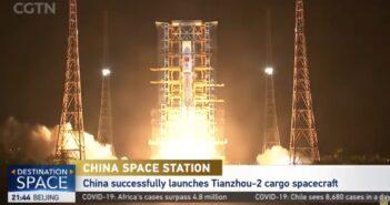 Tianzhou-2 dotarł do chińskiej stacji kosmicznej