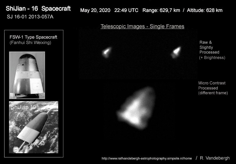 Obrazy teleskopowe Shijian-16-1 / Credits - Ralf Vandebergh